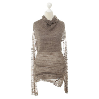 Helmut Lang Pullover in maglia marrone