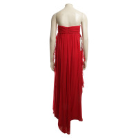 Badgley Mischka Seidenkleid in Rot