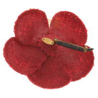 Chanel Brooch in red / white