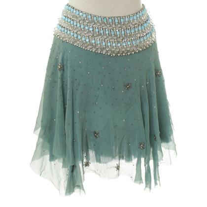 Blumarine Silk skirt in turquoise