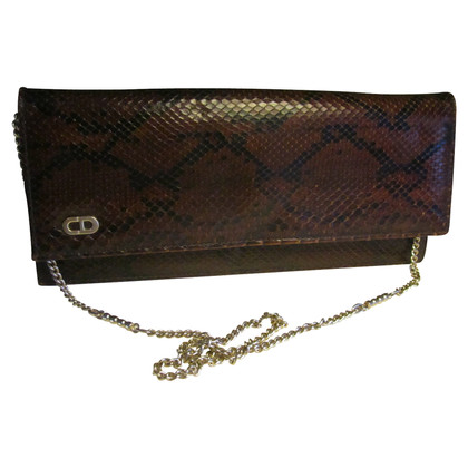 Christian Dior clutch from python leather