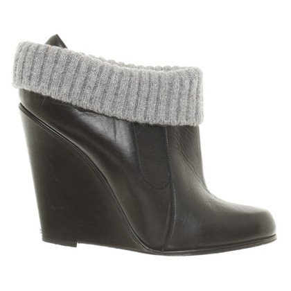 Bally Wedge bottines avec détail tricot