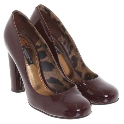 Dolce & Gabbana Bordeaux colored pumps