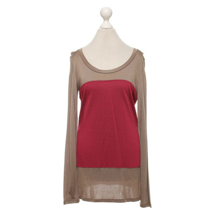 Max & Co Top in Taupe / Rood