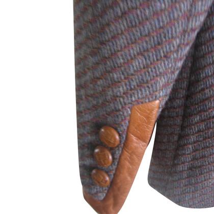 Escada Blazer in wol / leder