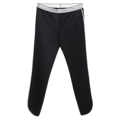Twin-Set Simona Barbieri Sporthose in black / white