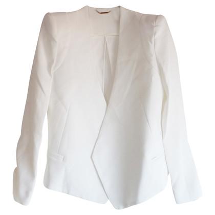 Chloé chloe white blazer bow