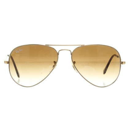 Ray Ban Zonnebril in Gold / Brown