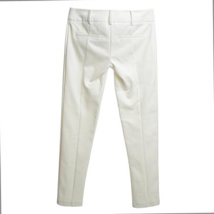Patrizia Pepe Pantalon en crème blanche