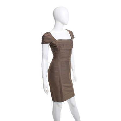 Hervé Léger Dress in olive green