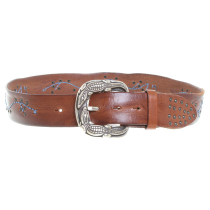 Reptile's House Belt with embroidery