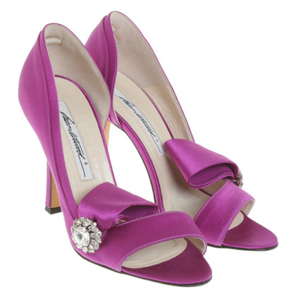 Brian Atwood Peeptoes in Fuchsia
