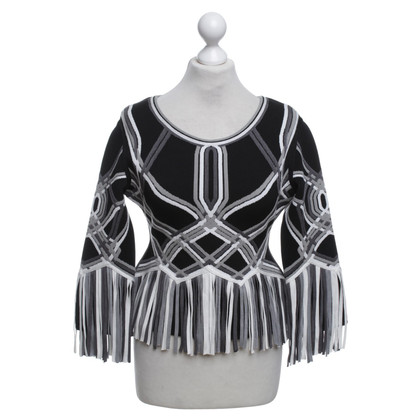 Hervé Léger Sweater with fringes