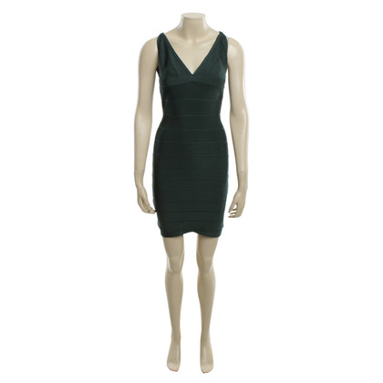 Hervé Léger Sheath Dress in Green