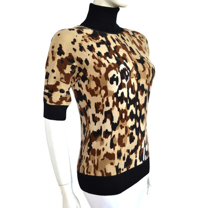 Escada Leopard print cashmere sweater