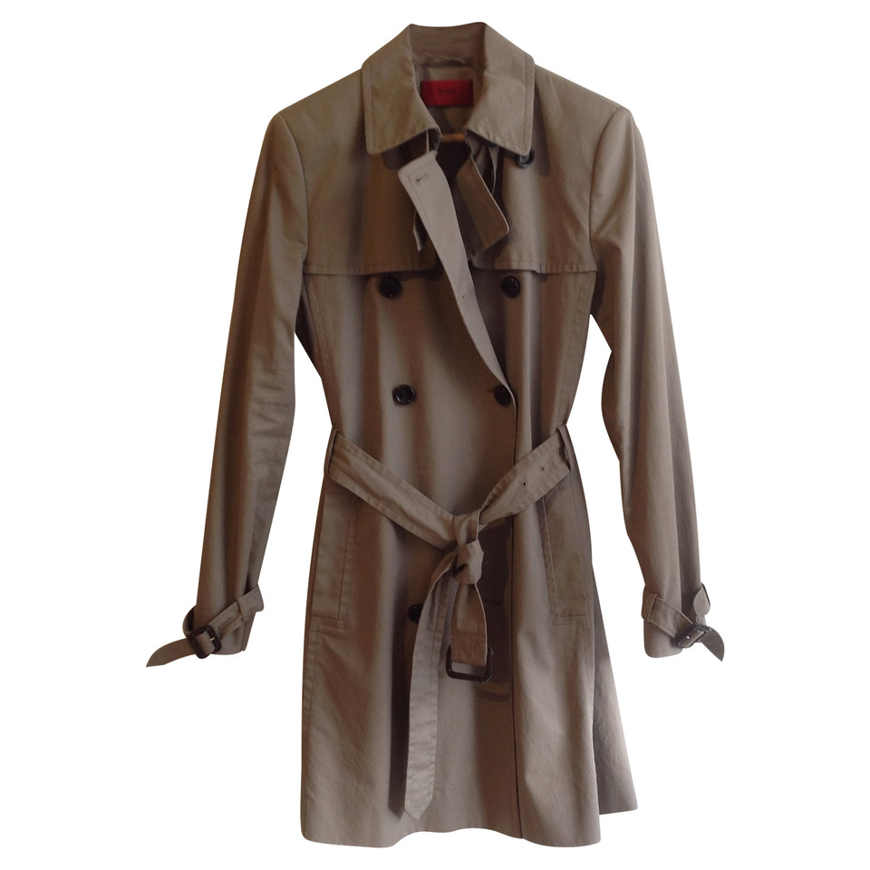 hugo boss trench coat in grey buy second hand hugo boss trench coat in grey for. Black Bedroom Furniture Sets. Home Design Ideas
