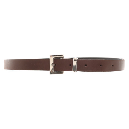 Marc Cain Skinny Leather Belt in Brown