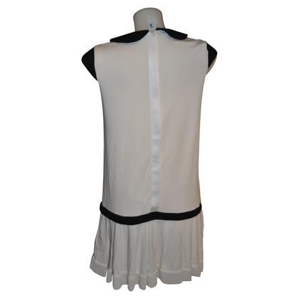 Twin-Set Simona Barbieri kleine witte jurk en zwart