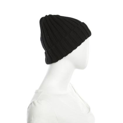 Moncler chapeau de laine en noir