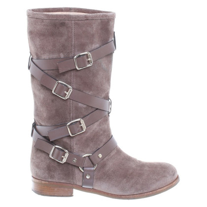 Elisabetta Franchi Suede boots with tie