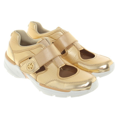 Michael Kors Gold-colored sneaker with Cutouts