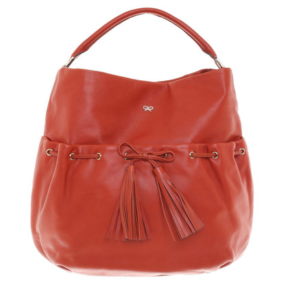 Anya Hindmarch Hopper in pelle a Orange