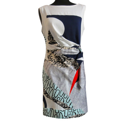 Diane von Furstenberg patroon zijden jurk
