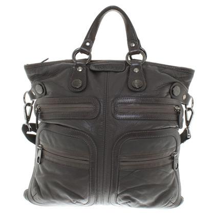 Hogan Taupefarbene Handtasche