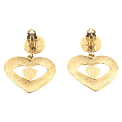 Yves Saint Laurent Gold-colored ear clip in heart shape
