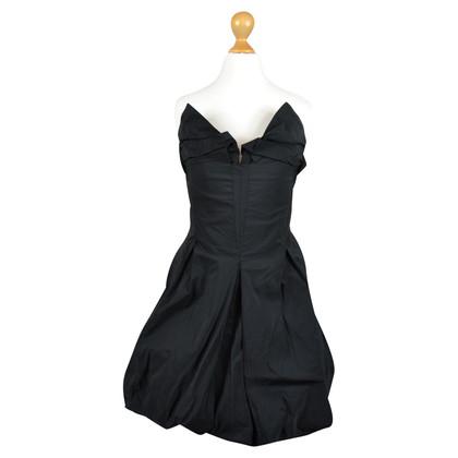All Saints Bandeau-jurk in zwart