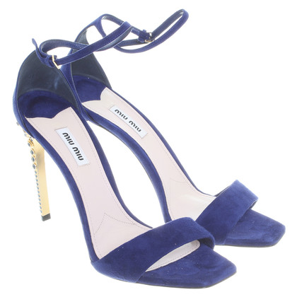 Miu Miu Sandals in Royal Blue