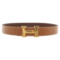 Hermès reversible belt in brown