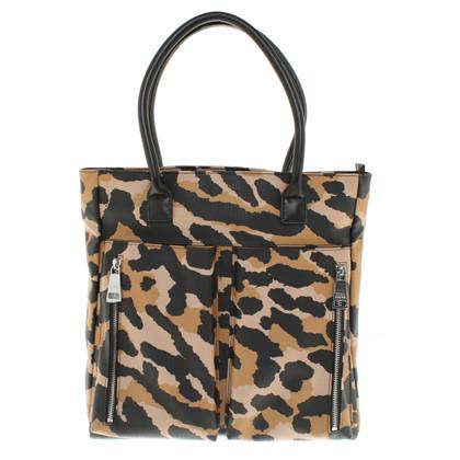 Sonia Rykiel Tote Bag with leopard print