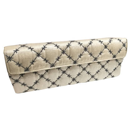 Fendi clutch in white