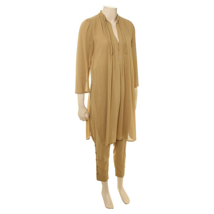Rena Lange Cotton costume in ochre