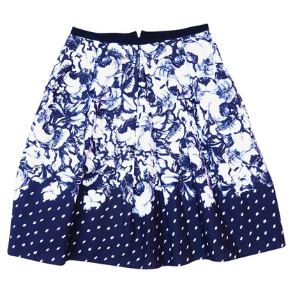 Erdem Black and white Floral skirt