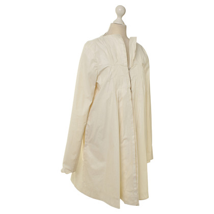 Barre Noire Coat in white