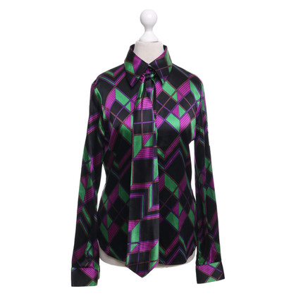 "Diane von Furstenberg Silk blouse ""Kipper"" with pattern"