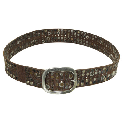 Marithé et Francois Girbaud Belt with studs trim