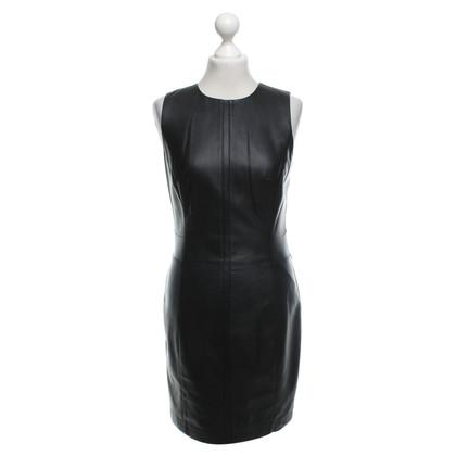 Armani Leren jurk in zwart