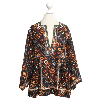 Isabel Marant Silk blouse with pattern