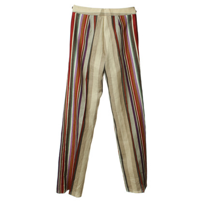 Etro Striped linen trousers