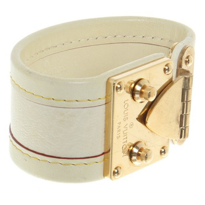 Louis Vuitton Leather bracelet with application