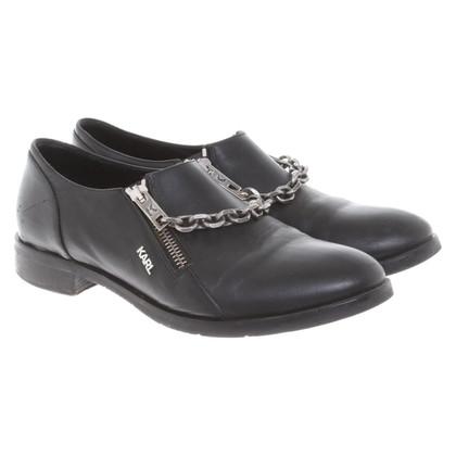 Karl Lagerfeld Leren slippers