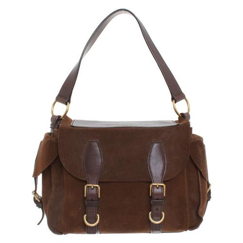 Yves Saint Laurent Shoulder bag in brown - Second Hand Yves Saint ... edf7cc2a5cef2
