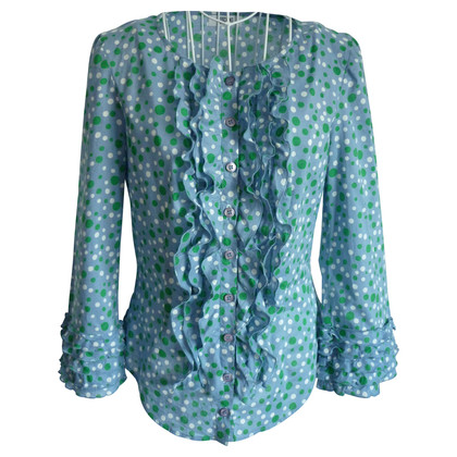 Moschino Cheap and Chic Blouse met stippen en ruches