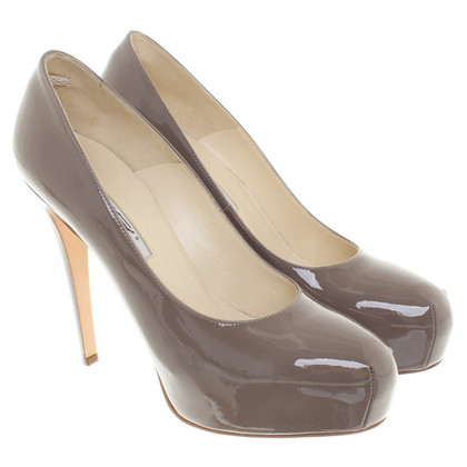 Brian Atwood Lackleder-pumps in Taupe