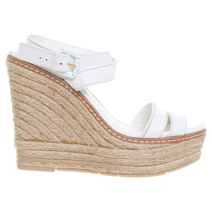Ralph Lauren Wedges in cream-coloured leather