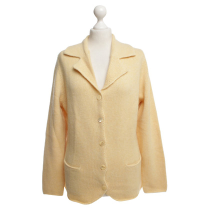 FTC cardigan giallo in cashmere
