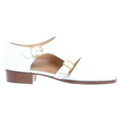 Hermès Lederen sandalen in wit